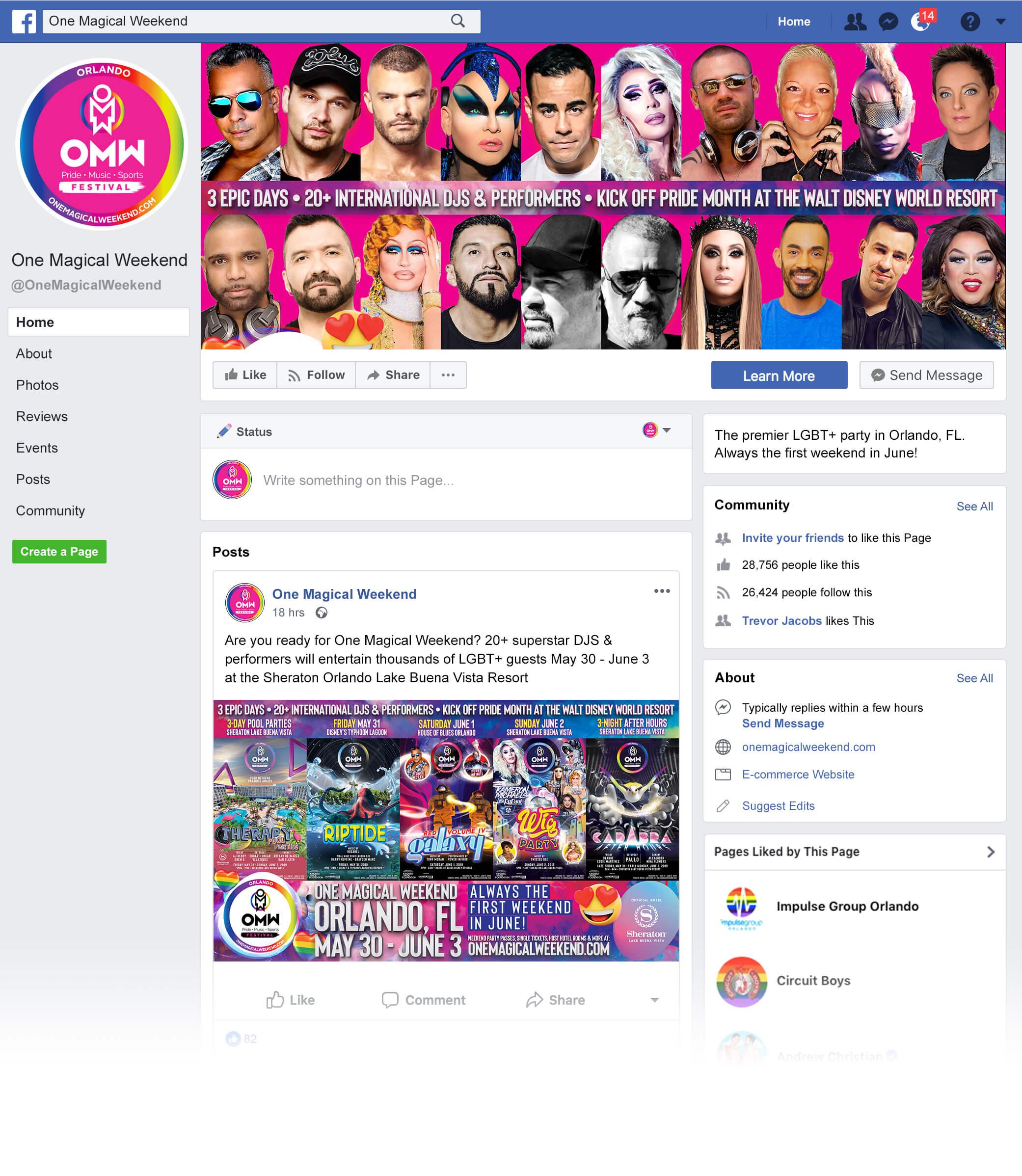 LGBT+ Event Branding - Matt Cameron